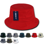 Lot of 6 Decky Polo Bucket Hats, Fisherman Hats Bulk