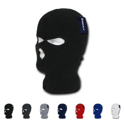 Lot of 6 Decky Face Masks (3-Hole) Ski Mask Balaclava Cover Bulk