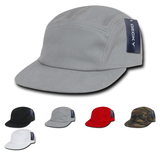 5-Panel Cotton Racer Racing Jockey Hat Camper Cap - Decky 985