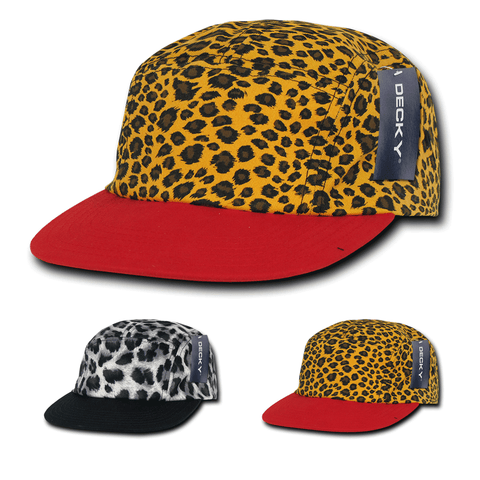 5-Panel Animal Pattern Racer Racing Jockey Hat Camper Cap - Decky 986