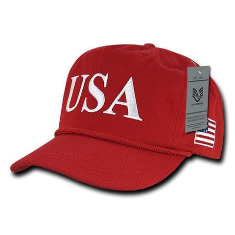 USA America Golf Hats, US Flag Baseball Caps - A091