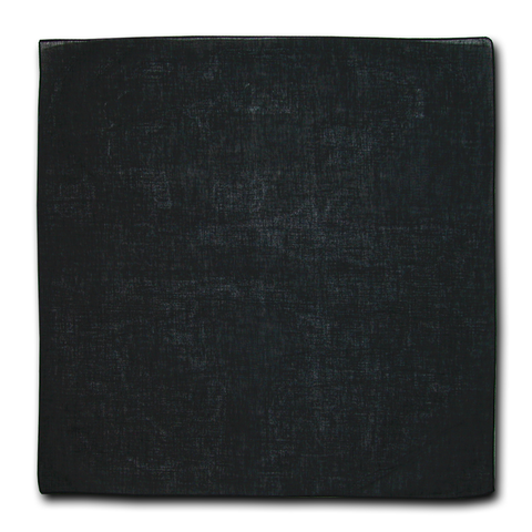 "Bandanas, 100% Cotton, Black Solid Color, Plain, Blank Bandannas, Bandana, Bandanna, Size: 22"" x 22"""