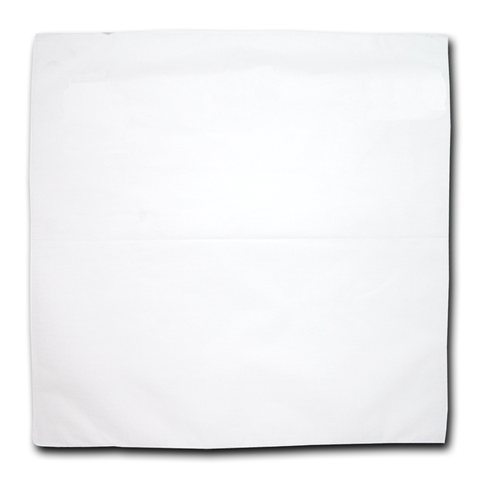 "Bandanas, 100% Cotton, White, Solid Color, Plain, Blank Bandannas, Bandana, Size: 22"" x 22"""
