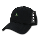 Avocado Guacamole Baseball Cap Dad Hat, 100% Cotton, Black