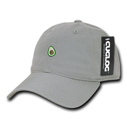 Avocado Guacamole Baseball Cap Dad Hat, 100% Cotton, Grey