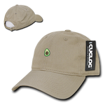 Avocado Guacamole Baseball Cap Dad Hat, 100% Cotton, Khaki