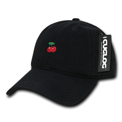 Cherry Cherries Baseball Cap Dad Hat, Black