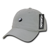 Yin Yang Baseball Cap Dad Hat, Grey