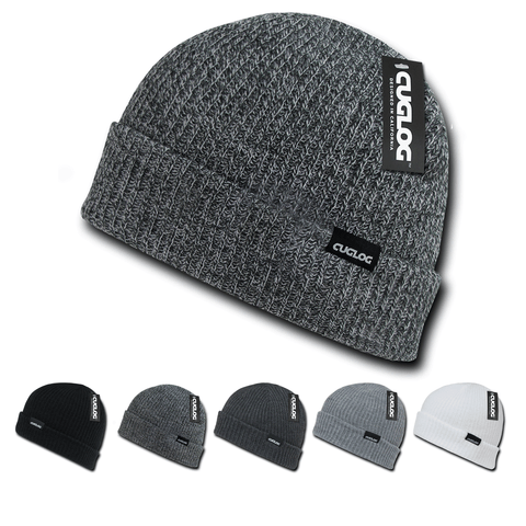 Halla Beanie, Knit Cap, Cable Knitted with Cuff - Cuglog K017