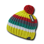 Mont Ventoux Beanie, Knit Cap, Cable Knit with Pom Pom - Cuglog K028