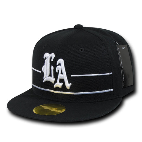 Los Angeles LA City Snapback Flat Bill Hats, Flip Side