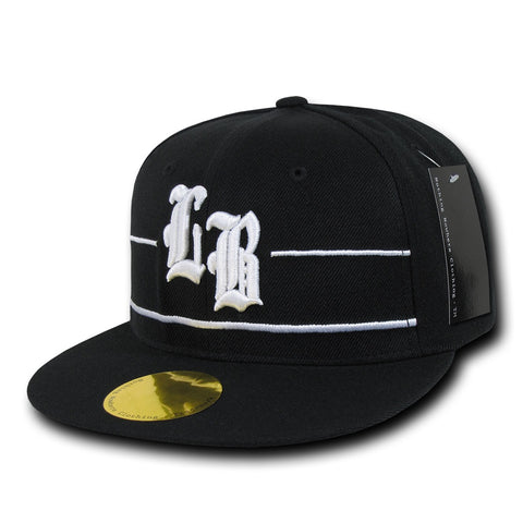 Long Beach City Snapback Flat Bill Hats, Flip Side