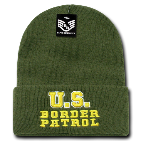 US Border Patrol Law Enforcement Knit Beanie Cap - R81