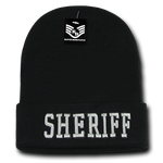 Sheriff Law Enforcement Knit Beanie Cap - Black - R81