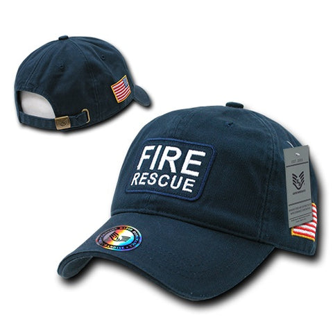 Fire Rescue Dual Flag Raid Hat Baseball Cap Fire Department Firefighter - Rapid Dominance R89