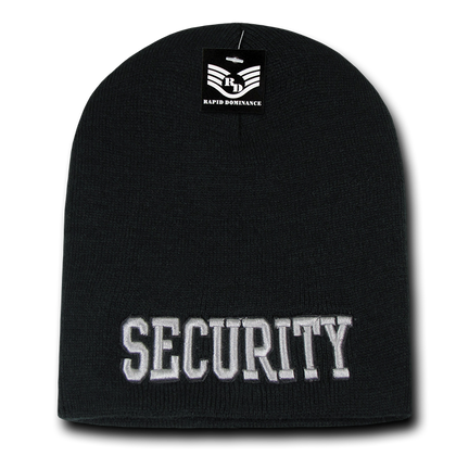 Security Public Safety Knit Beanie Cap - Black1 - R90