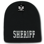 Sheriff Law Enforcement Knit Beanie Cap - Black - R90