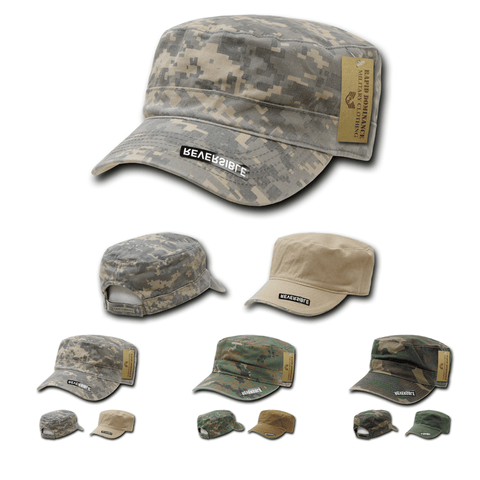 Reversible Flat Top Cap Camo GI BDU Fatigue Hat Military Patrol - Rapid Dominance R98