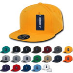 Blank Fitted Flat Bill Hats, Retro Fitted Cap (6 7/8 - 7 1/4) - Decky RP1