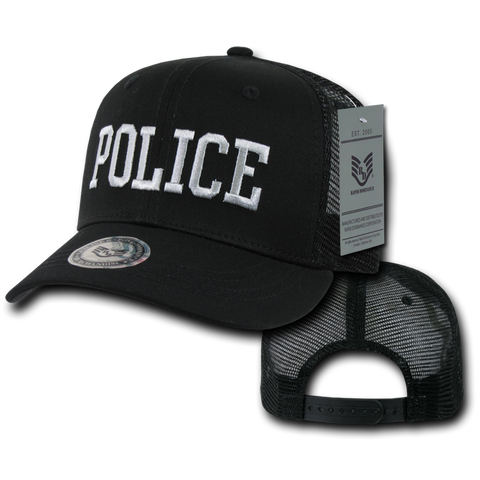 Police Trucker Hat Mesh Baseball Cap Officer Cop Law Enforcement - Rapid Dominance S77