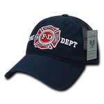 Fire Department Trucker Hat Relaxed Mesh Baseball Cap Firefighter FD - Rapid Dominance S79