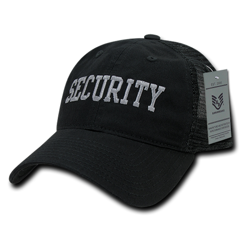 Security Trucker Hat Relaxed Mesh Baseball Cap Guard Public Safety - Rapid Dominance S79