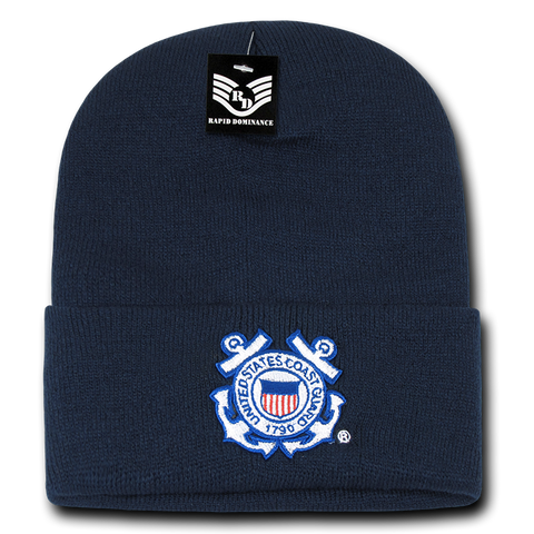 United States Coast Guard Beanie, Coast Guard Knit Cap, USCG Beanie, Coast Guard Seal - Rapid Dominance S81