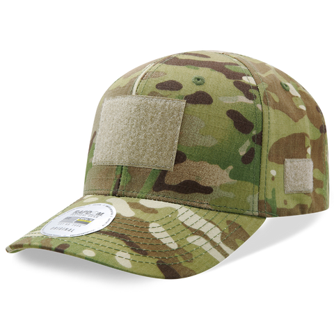 MultiCam Camo Operator Cap, Tactical Camouflage Patch Hat, Hook & Loop - Rapid Dominance T73