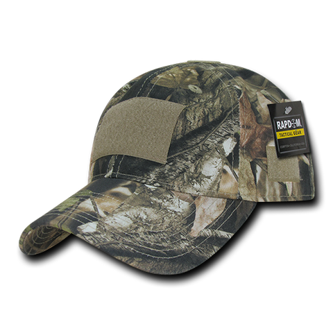 Relaxed Hybricam Camo Tactical Operator Hat, Patch Cap, Tree Bark Camo - Rapid Dominance T85