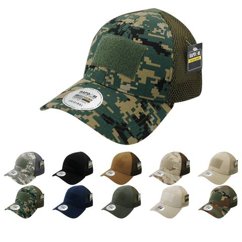 Tactical Operator Hat Air Mesh Flex Baseball Cap Patch Military Army - Rapdom T93