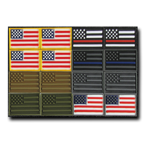 Rapid Dominance Tactical Micro Patches, US Flag, 16 pack - Rapdom T95