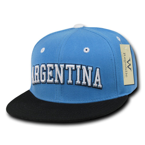 Argentina Hat Snapback Flat Bill Country Cap - WR101