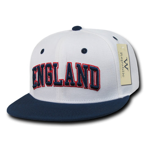 England Hat Snapback Flat Bill Country Cap - WR101