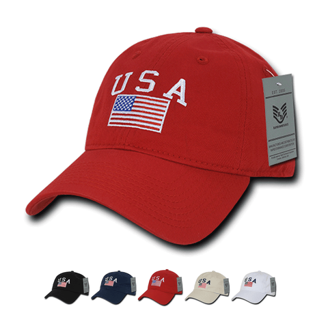 Wholesale Bulk American USA Flag Classic Dad Hat - A032
