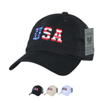Wholesale Bulk American USA Flag Letters Dad Hat - A033