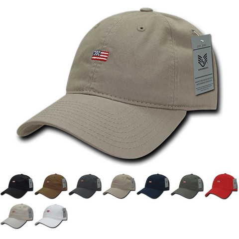 Wholesale Bulk American USA Small Flag Dad Hat - A035