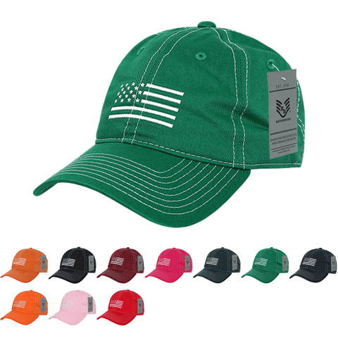 Wholesale American USA White Flag Dad Hats - A034