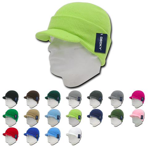 Wholesale Bulk Blank Knit Beanie Jeep Caps - Decky 8009