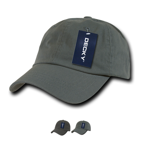 Wholesale Bulk Blank Washed Polo Dad Hats - Decky 760