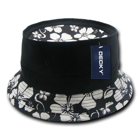 Wholesale Bulk Floral Brim Fisherman's Bucket Hat - Decky 456