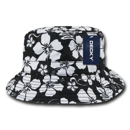 Wholesale Bulk Floral Polo Bucket Hat - Decky 455