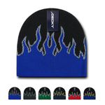 Wholesale Bulk Kids' Youth Knit Beanies Fire Flame - Decky 9055