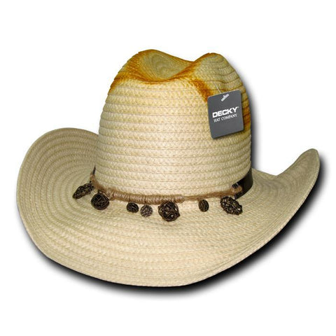 Wholesale Bulk Paper Braid Cowboy Hat - 524