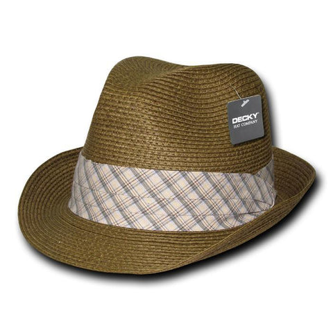 Wholesale Bulk Paper Braid Woven Fedora - 533