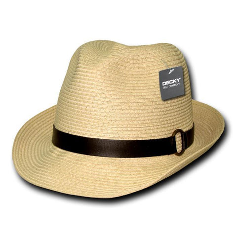 Wholesale Bulk Paper Braid Woven Fedora - 536