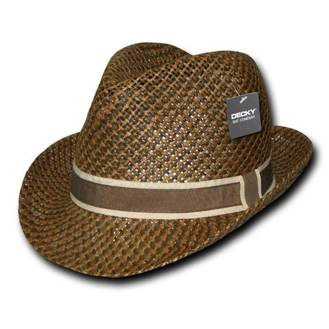 Wholesale Bulk Paper Braid Woven Fedora Hat - 538