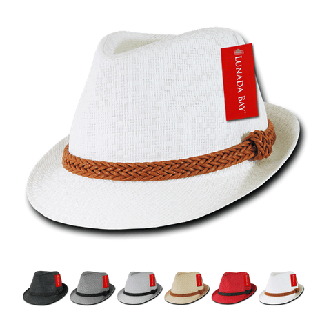 Wholesale Bulk Paper Straw Fedora Hat - 557