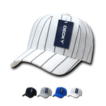 Wholesale Bulk Pin Stripe Baseball Hats Adjustable - Decky 208