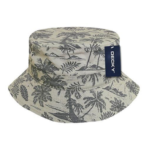 Wholesale Bulk Tropical Bucket Hat - Decky 461