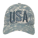 Wholesale Bulk USA America Ripstop Relaxed Hats - S731 - ACU Camo